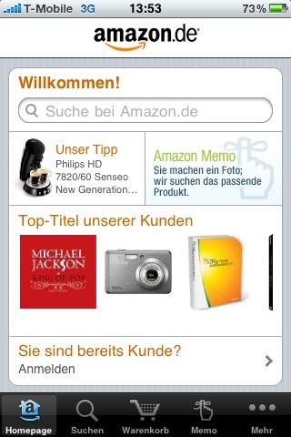 Amazon App im Appstore