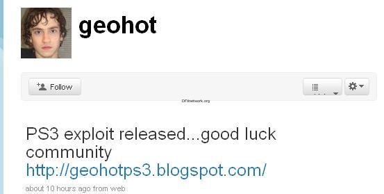gehot hat PS3 exploit veröffentlicht