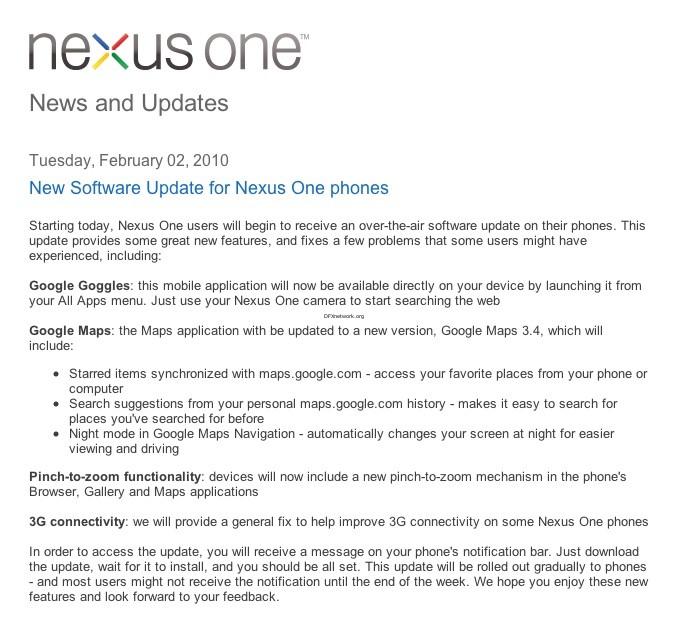 Google Nexus One kann nun Multitouch