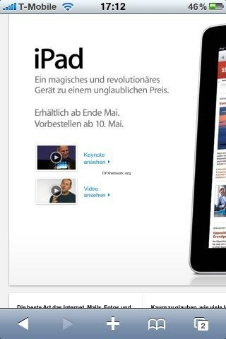 iPad verschoben auf Mai