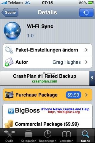 [update]Wi-Fi Sync App wurde Abgelehnt aber in Cydia erhältlich