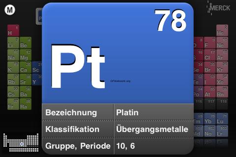 Merck PSE – Das Periodensystem auf dem iPhone