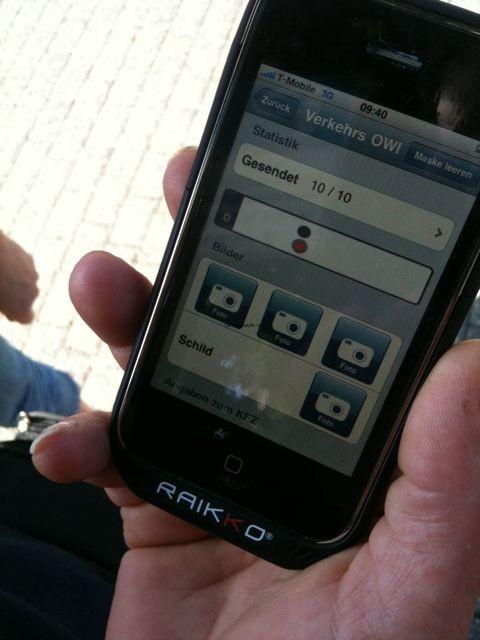 Knöllchen per iPhone