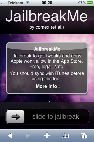 jailbreakme.com – Jailbreak per Webbrowser von Comex und dem Dev-Team