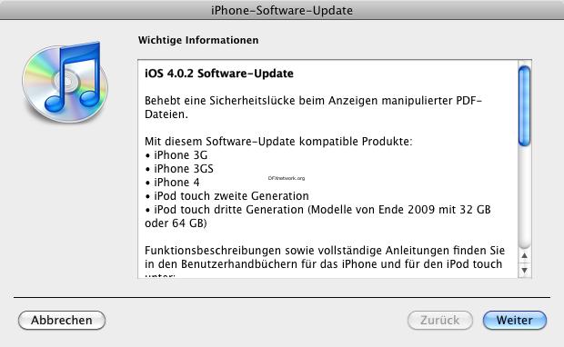 iOS Update 4.0.2 veröffentlicht