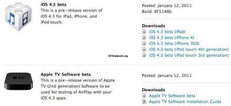 Neue iOS Beta 4.3 veröffentlicht – Nette Funktionen