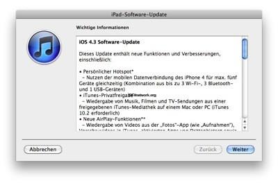 iOS 4.3 ist da