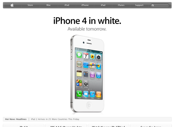 Weißes iPhone 4 ab Morgen