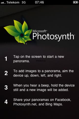 Microsoft Photosynth – Panorama App von Microsoft