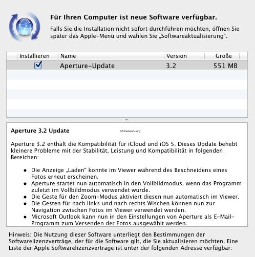 Aperture erhält iCloud und iOS 5 Update