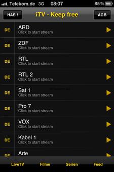 iTV – TV Streaming mit faden Beigeschmack