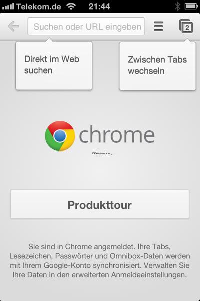 Google Chrome für iPhone und iPad erscheinen