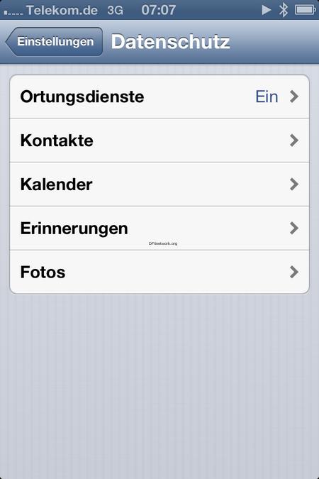 iOS 6 – ein paar Bilder