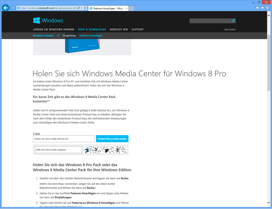 Windows 8 – Windows Media Center Kostenlos